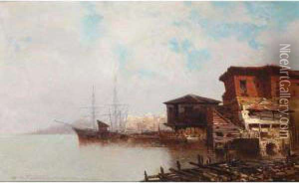 View Of Istanbul Oil Painting - Jean Baptiste Henri Durand-Brager