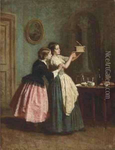 The Trap Oil Painting - Theophile-Emmanuel Duverger