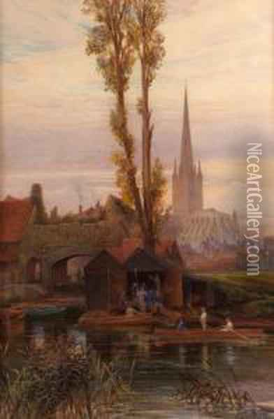 The Watergate, Norwich Oil Painting - Charles Earle