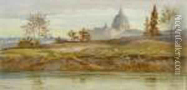 Rome From The River Oil Painting - Charles Earle