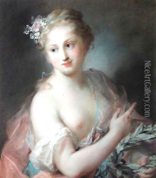 Nymph from Apollo's Retinue Oil Painting - Rosalba Carriera