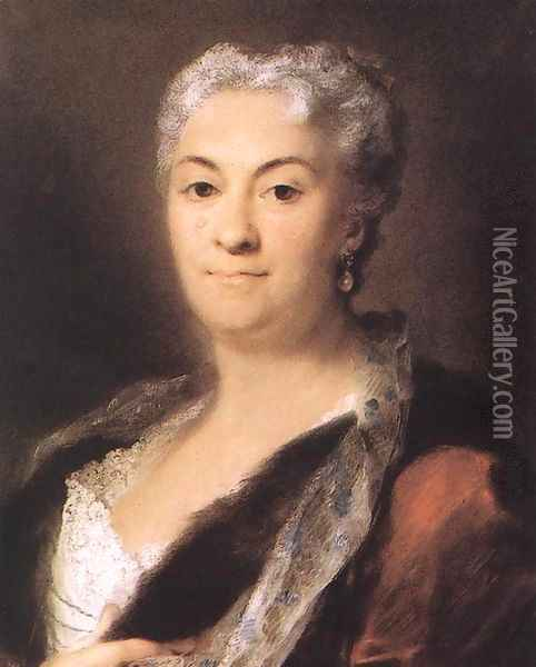 Elderly Lady c. 1740 Oil Painting - Rosalba Carriera