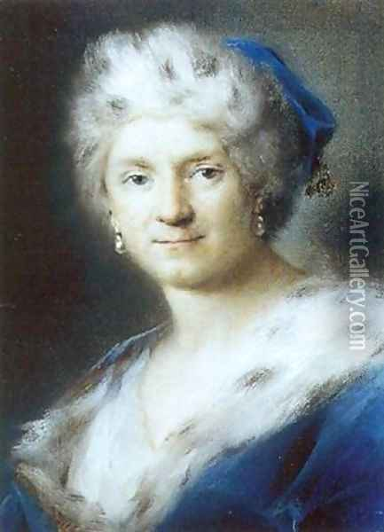 Self-Portrait as Winter 1731 Oil Painting - Rosalba Carriera