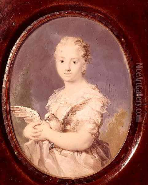 Young Girl with a Dove (L'Innocenza) Oil Painting - Rosalba Carriera