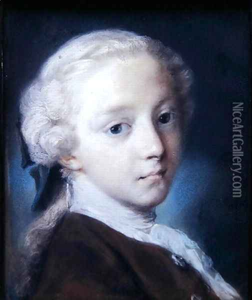 Portrait of a Boy, 1726 Oil Painting - Rosalba Carriera