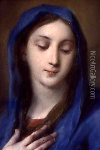 Madonna from the chapel Oil Painting - Rosalba Carriera