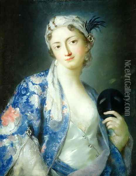 Portrait of a Woman Oil Painting - Rosalba Carriera