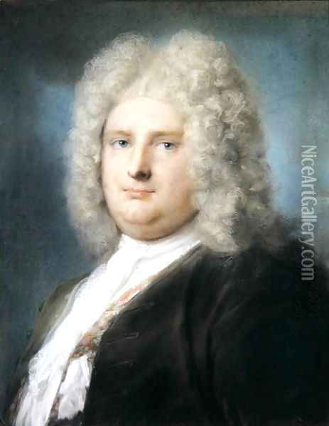 Portrait of the French Consul, Le Blond, 1727 Oil Painting - Rosalba Carriera