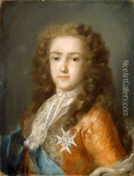 Louis XV As Dauphin Oil Painting - Rosalba Carriera