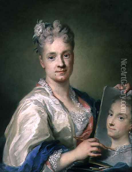 Self Portrait, 1709 Oil Painting - Rosalba Carriera