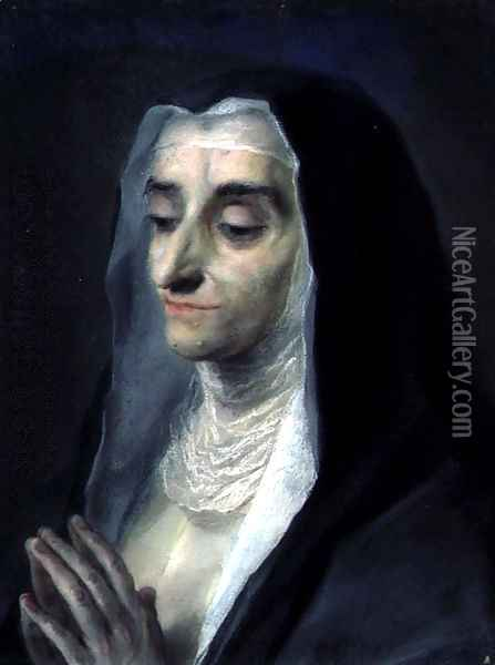 Sister Maria Caterina, 1732 Oil Painting - Rosalba Carriera