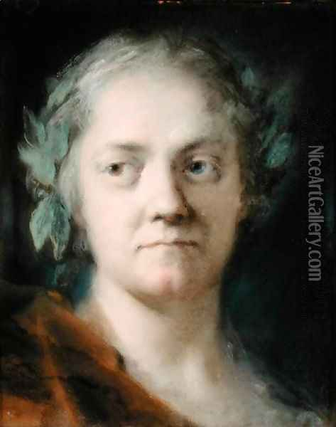 Self Portrait Oil Painting - Rosalba Carriera