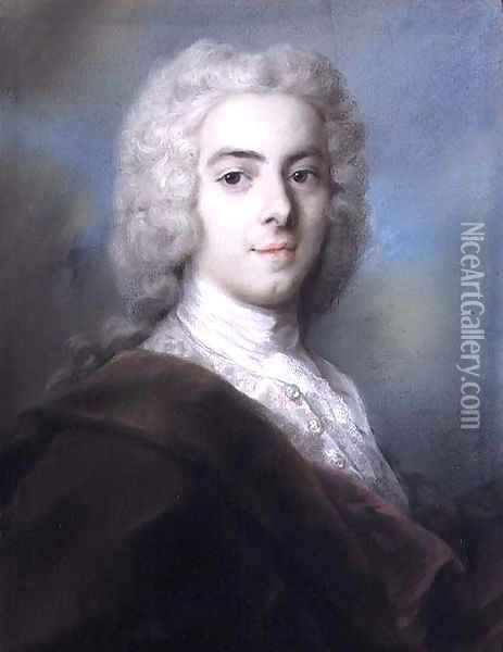 Portrait of Edward Walpole (d.1784) second son of Sir Robert Walpole (1676-1745 Oil Painting - Rosalba Carriera