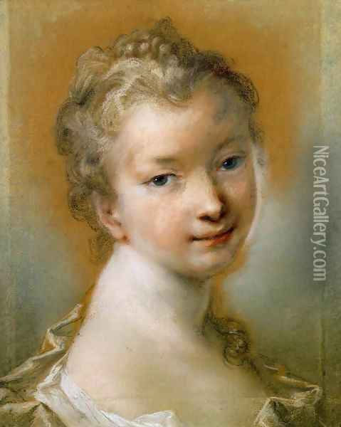 Portrait of a Young Girl 2 Oil Painting - Rosalba Carriera