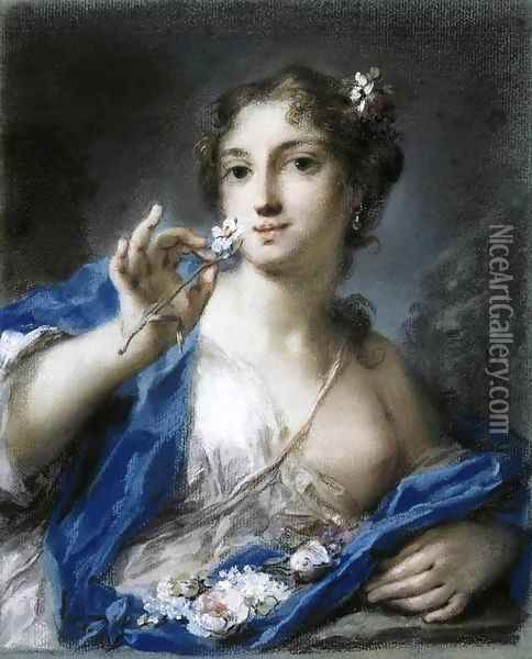 Spring Oil Painting - Rosalba Carriera