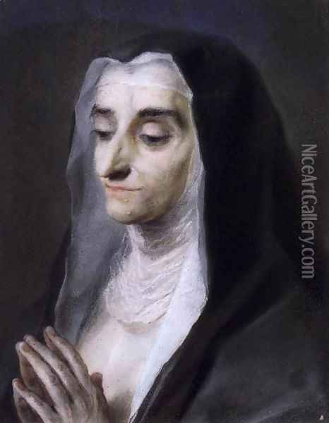 Portrait of Sister Maria Caterina Oil Painting - Rosalba Carriera