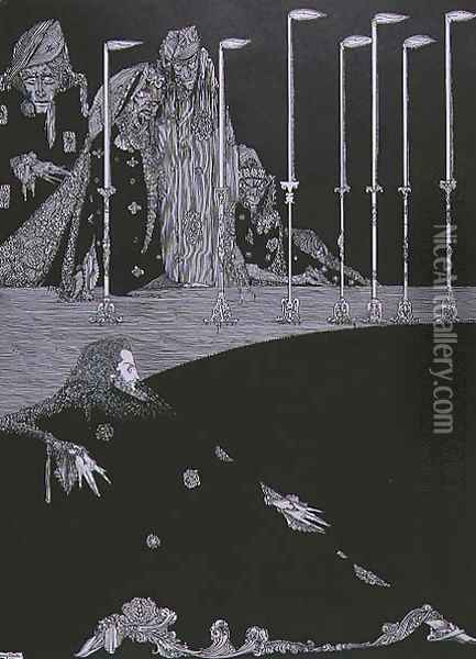 The Pit and the Pendulum, c.1923 Oil Painting - Harry Clarke