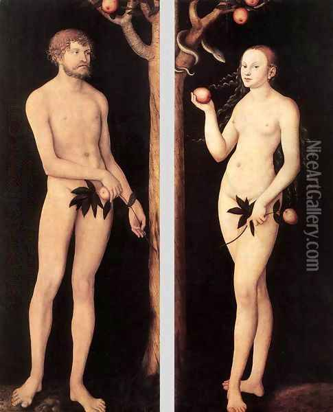 Adam and Eve 1531 Oil Painting - Lucas The Elder Cranach