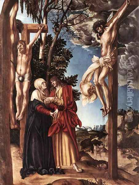 Crucifixion 1503 Oil Painting - Lucas The Elder Cranach
