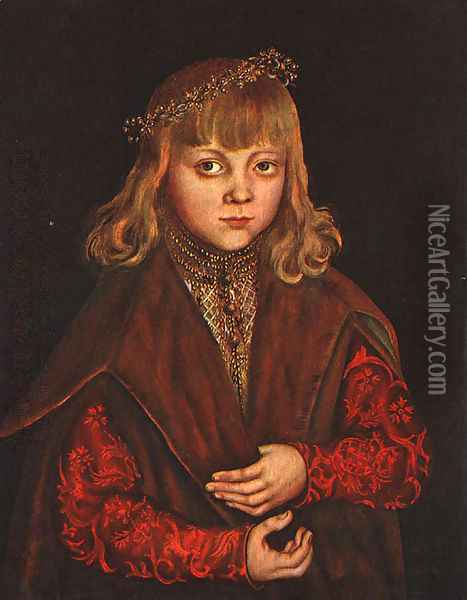 A Prince of Saxony 1517 Oil Painting - Lucas The Elder Cranach