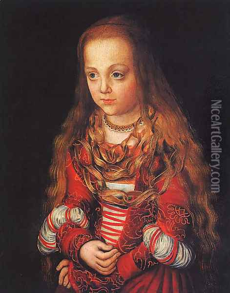 A Princess Of Saxony 1517 Oil Painting - Lucas The Elder Cranach