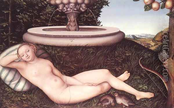 The Nymph of the Fountain 1534 Oil Painting - Lucas The Elder Cranach