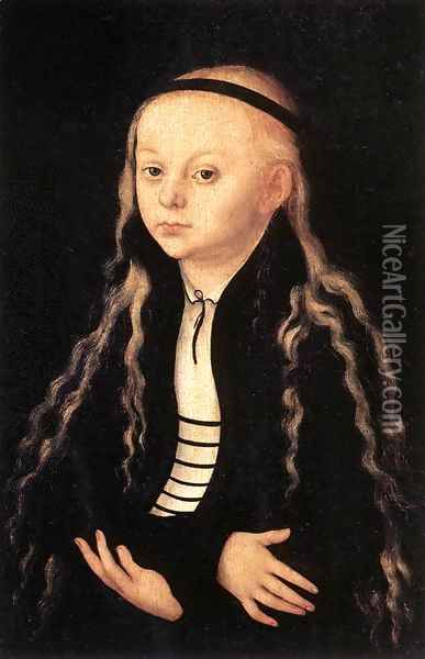 Portrait of a Young Girl c. 1540 Oil Painting - Lucas The Elder Cranach