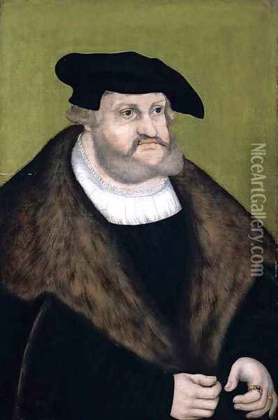 Portrait of Elector Frederick the Wise in his Old Age 1525 Oil Painting - Lucas The Elder Cranach