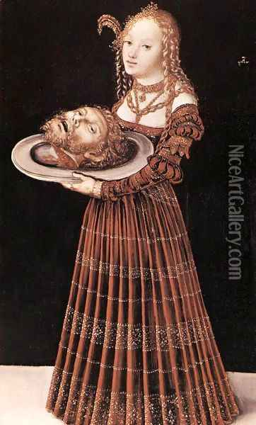 Salome With The Head Of St John The Baptist Oil Painting - Lucas The Elder Cranach
