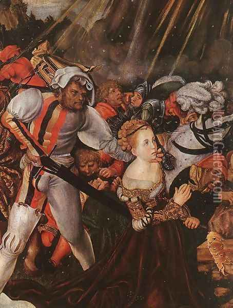 The Martyrdom of St Catherine (detail) 1504-05 Oil Painting - Lucas The Elder Cranach