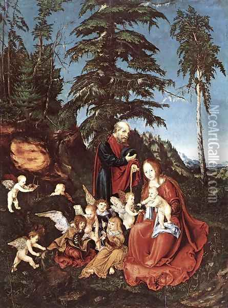 The Rest on the Flight into Egypt 1504 Oil Painting - Lucas The Elder Cranach