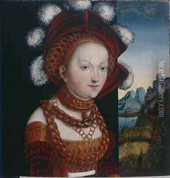A Young Lady Dressed in Princely Clothes Oil Painting - Lucas The Elder Cranach