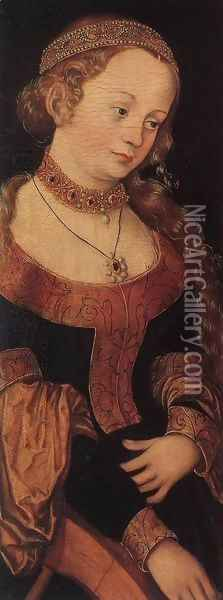 St Catherine of Alexandria Oil Painting - Lucas The Elder Cranach