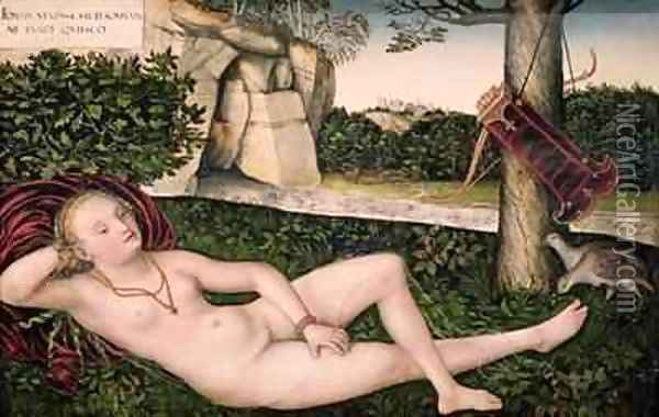 Diana Resting or The Nymph of the Fountain Oil Painting - Lucas The Elder Cranach
