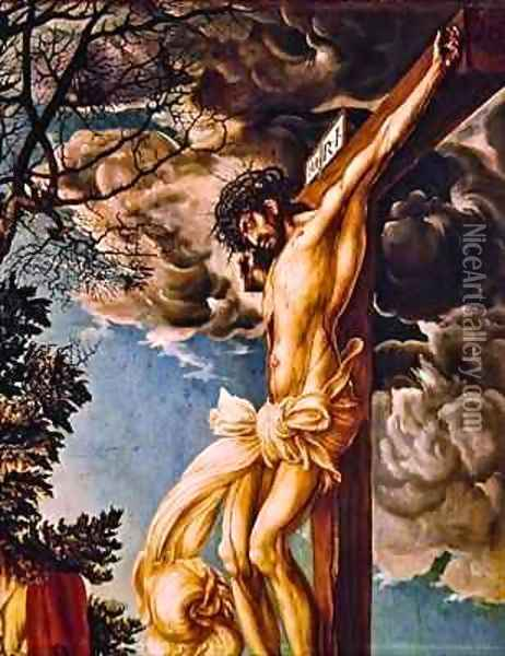 Detail of The Crucifixion Oil Painting - Lucas The Elder Cranach