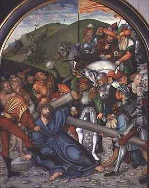 Christ Carrying the Cross Oil Painting - Lucas The Elder Cranach