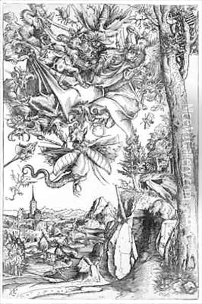 The Temptation of St Anthony Oil Painting - Lucas The Elder Cranach