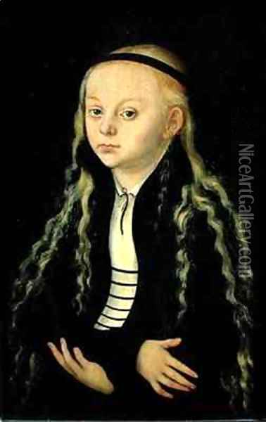 Portrait of a Young Girl possibly Magdalena Luther Oil Painting - Lucas The Elder Cranach