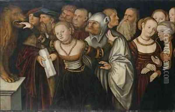 The Mouth of Truth Oil Painting - Lucas The Elder Cranach