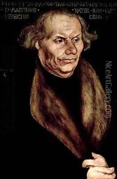 Hans Luther Father of Martin Luther Oil Painting - Lucas The Elder Cranach