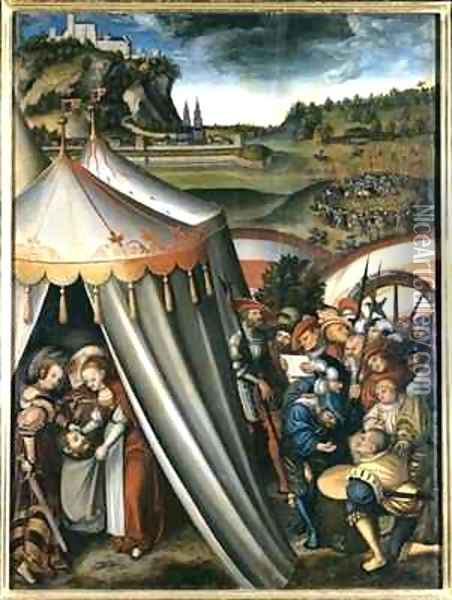 Judith in the tent of Holofernes Oil Painting - Lucas The Elder Cranach