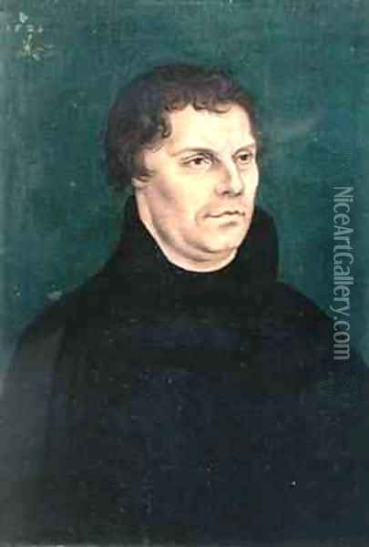 Martin Luther 1483-1546 Oil Painting - Lucas The Elder Cranach