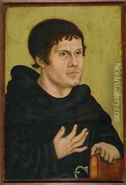 Portrait of Martin Luther as an Augustinian Monk Oil Painting - Lucas The Elder Cranach