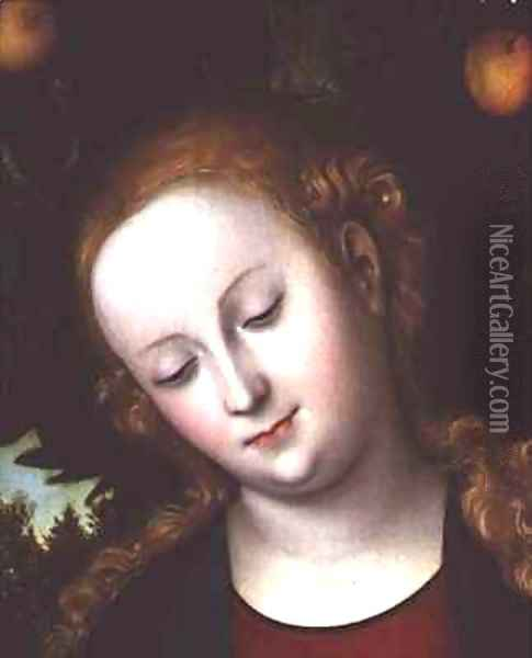 Head of the Virgin Oil Painting - Lucas The Elder Cranach