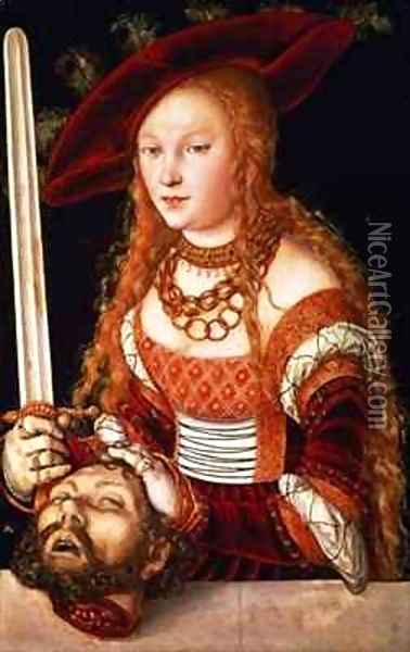 Judith with the head of Holofernes Oil Painting - Lucas The Elder Cranach