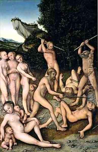 The SIlver Age or The Effects of Jealousy Oil Painting - Lucas The Elder Cranach