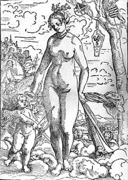 Venus and Cupid 4 Oil Painting - Lucas The Elder Cranach