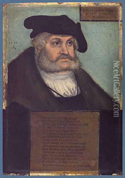Frederick III the Wise Elector of Saxony 1533 Oil Painting - Lucas The Elder Cranach