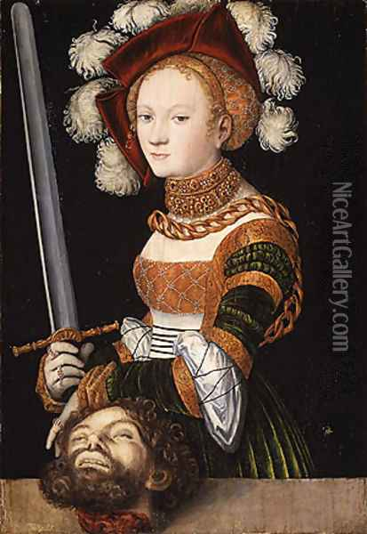 Judith with the Head of Holofernes ca 1530 Oil Painting - Lucas The Elder Cranach