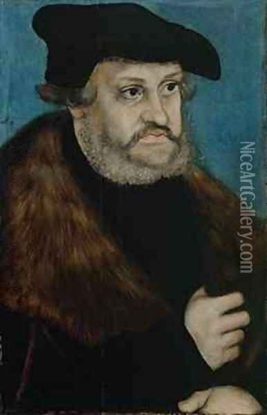 Portrait of Frederick the Wise Elector of Saxony Oil Painting - Lucas The Elder Cranach